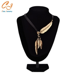 Leaf feather necklace for drop shipping chinese factory csv file order placing available necklace.jpg 250x250