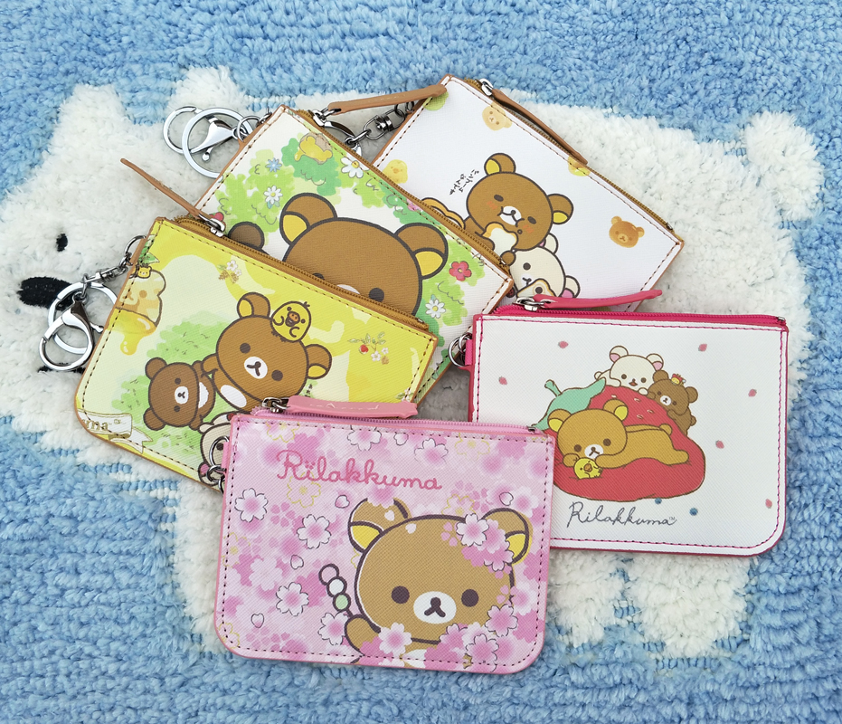 Card & Id Holders Brave Ivyye 1pcs Rilakkuma Anime Plush Card Holder Pu Cartoon Credit Id Bags Zipper Coin Bus Card Wallet Kid Girls Gifts New Reputation First