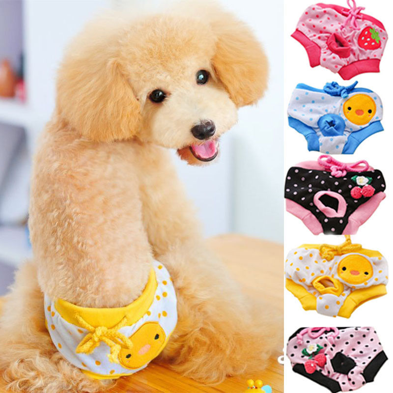 New Hot Selling Cute Pet Dog Puppy Diaper Pants Physiological Sanitary Short Panty Underwea  Washable Supplies Pets D40