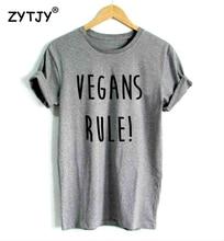 VEGANS RULE! women's t-shirt / girlie