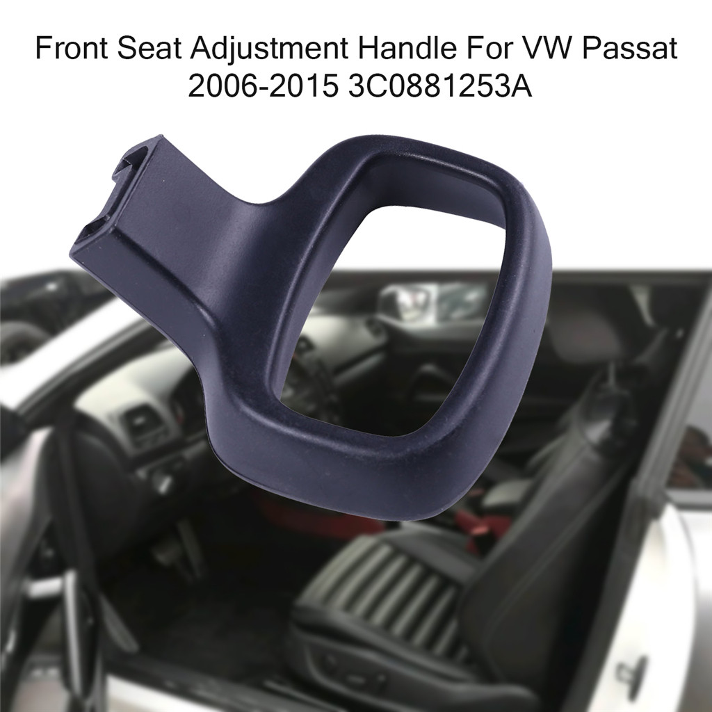 Black Front Seat Adjustment Handle For VW Passat 2006-2015 left and right OEM 3C0881253A 3C0881254A auto accessorie Durable 0.8