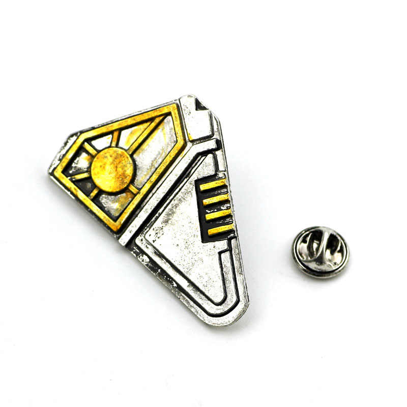 Guardians of the Galaxy Broche Vol. 2 Senhor estrela Star-Lord Peter Quill Superhero Cosplay Jóias Badge Pins broches para os homens