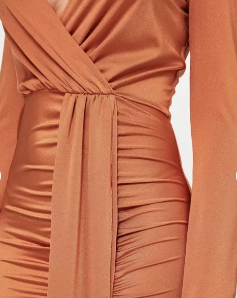 Burnt Orange Maxi Dress Sexy Wrap Solid Plunge Side Split-in Dresses from  Women s Clothing on Aliexpress.com  d2318129e9dc