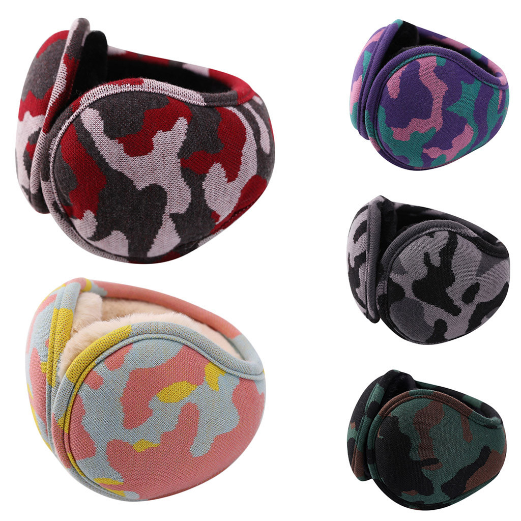 Unisex Adult Soft Camouflage Design Windproof Warm Winter Adjustable Comfortable Earmuffs L50/0108