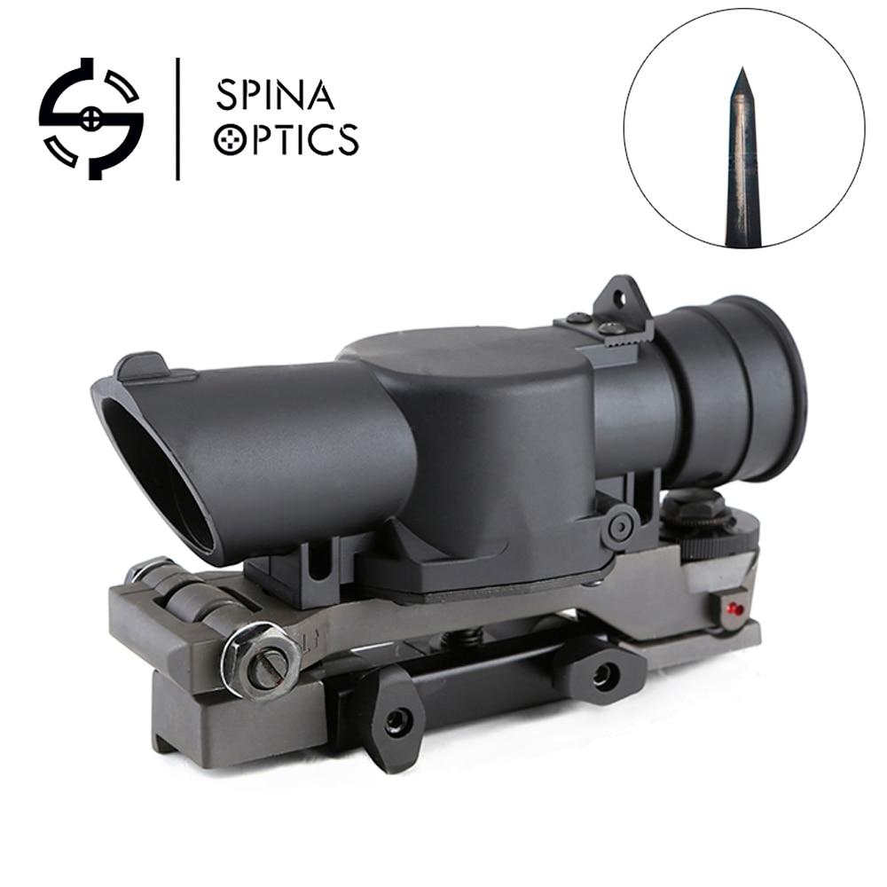 SPINA OPTICS  L85 SUSAT Type Tactical 4X Sight Rifle Shotgun Scope W/ Quick Detach Weaverer Mount