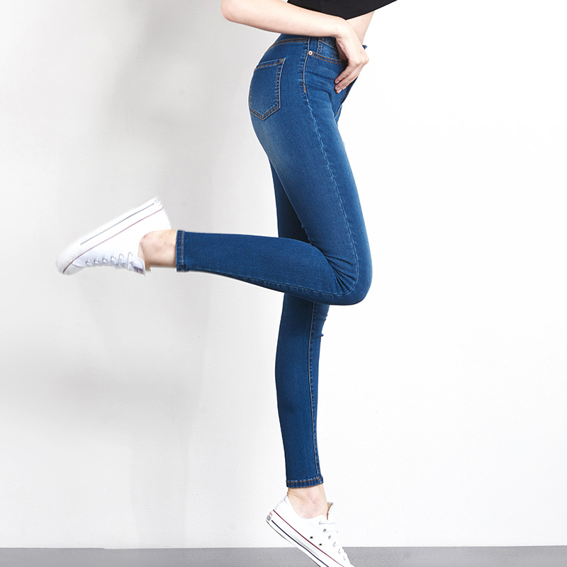 Jeans for Women mom Jeans  High Waist Jeans Woman High Elastic plus size Stretch Jeans female washed denim skinny pencil pants 4