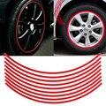 Наклейки Набор 6 мм Красный Автомобиль Обода Колеса Светоотражающие Ленты полосой Стикера этикеты Стайлинга Автомобилей Колеса Автомобиля Лента Полоса Пропуск наклейки