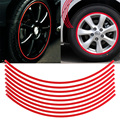 Coche Conjunto de Pegatinas de 6mm Red Car Wheel Rim Cinta Reflectante Stripe Decal Sticker Car Styling Car Calcomanía Rueda de La Raya de La Cinta pegatinas