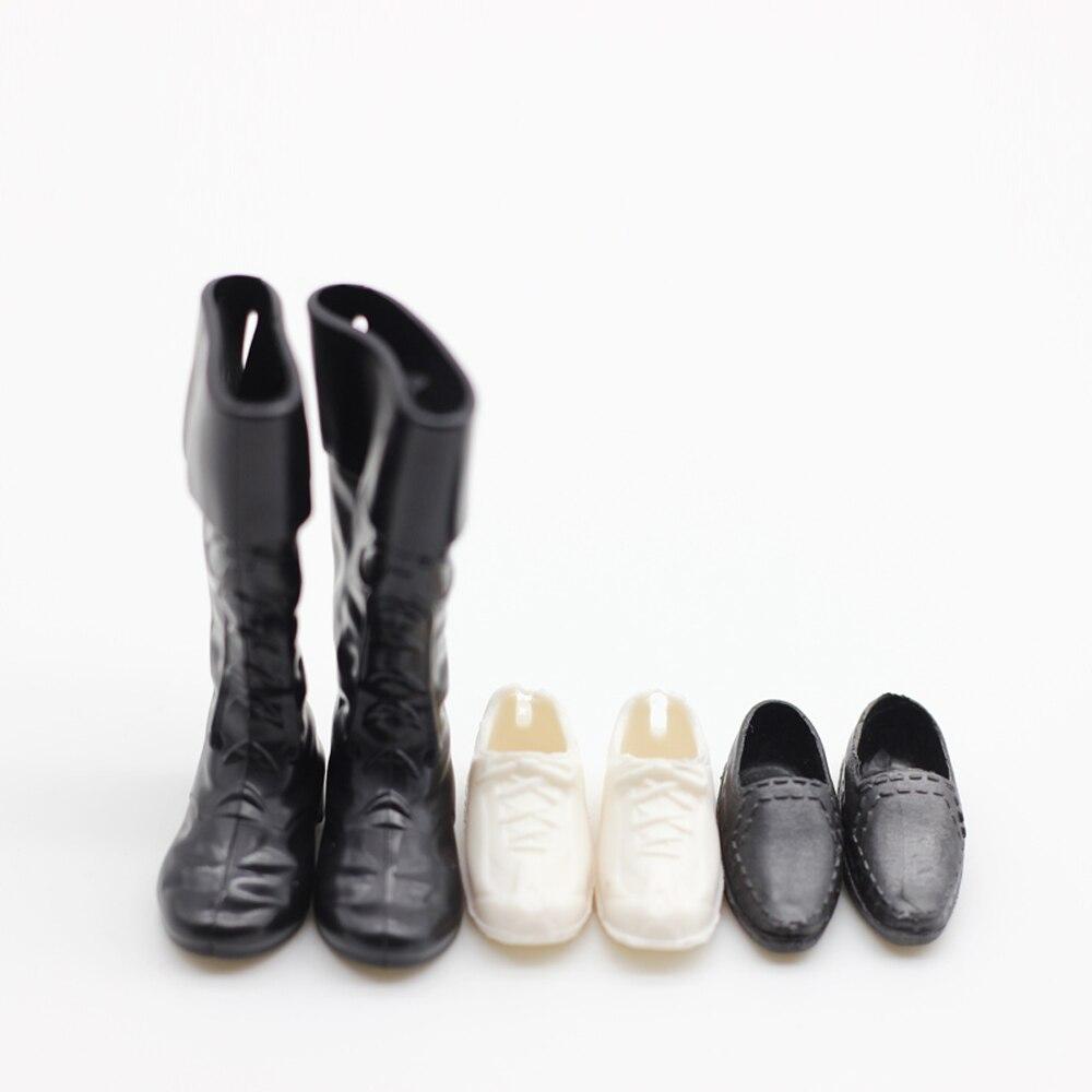 3pair Fashion Doll Shoes For Barbie Boy Friends Ken Dolls Boots Et020