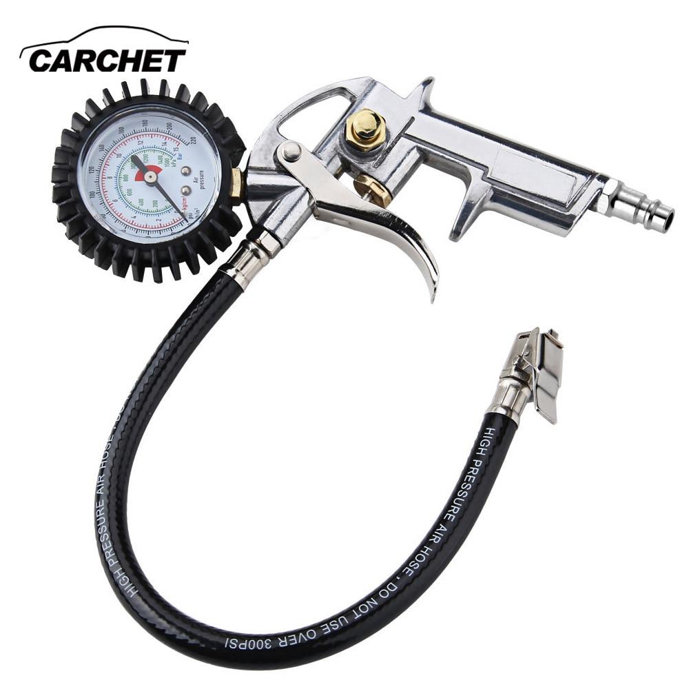 Carchet alta precisión medidor de presión digital para la motocicleta del coche SUV inflados Bombas desinflado Herramientas de reparación de neumáticos pistola de presión