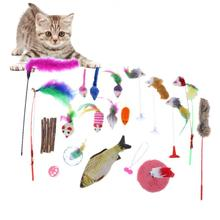 20pcs/lot Feather Sticks Rods Cat Kitten Training Toys Pets Dog Funny Toys