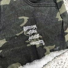 Camouflage Denim Short Pants PU27