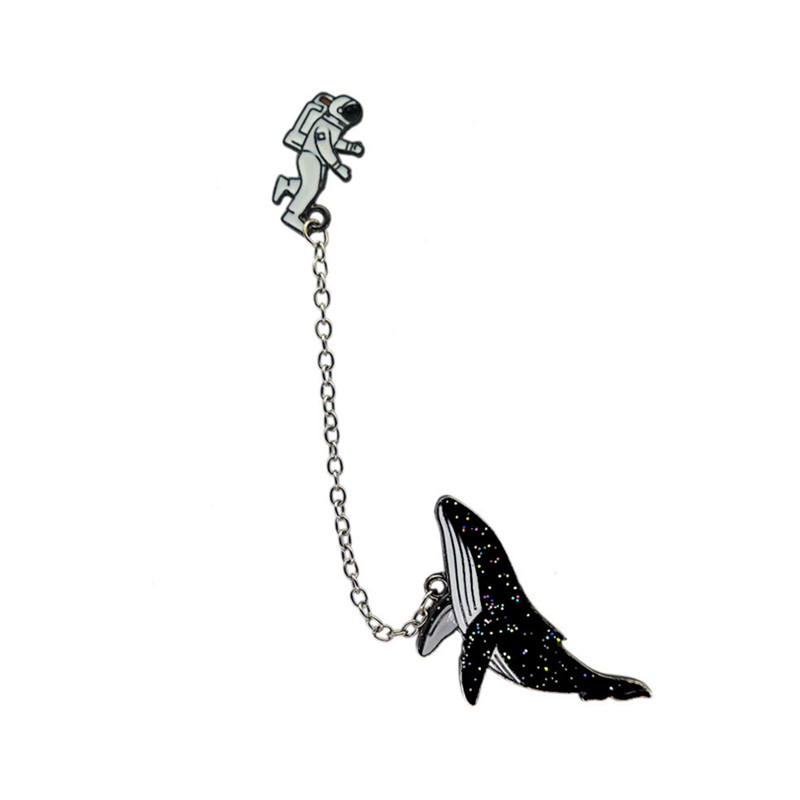 The new animal brooches Space <font><b>whales</b></font> Astronauts collocation brooch Clothing accessories Accessories wholesale image