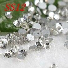 SS12 1440pcs crystal clear nail art stones  rhinestones for nails strass flatback non hotfix moile beauty