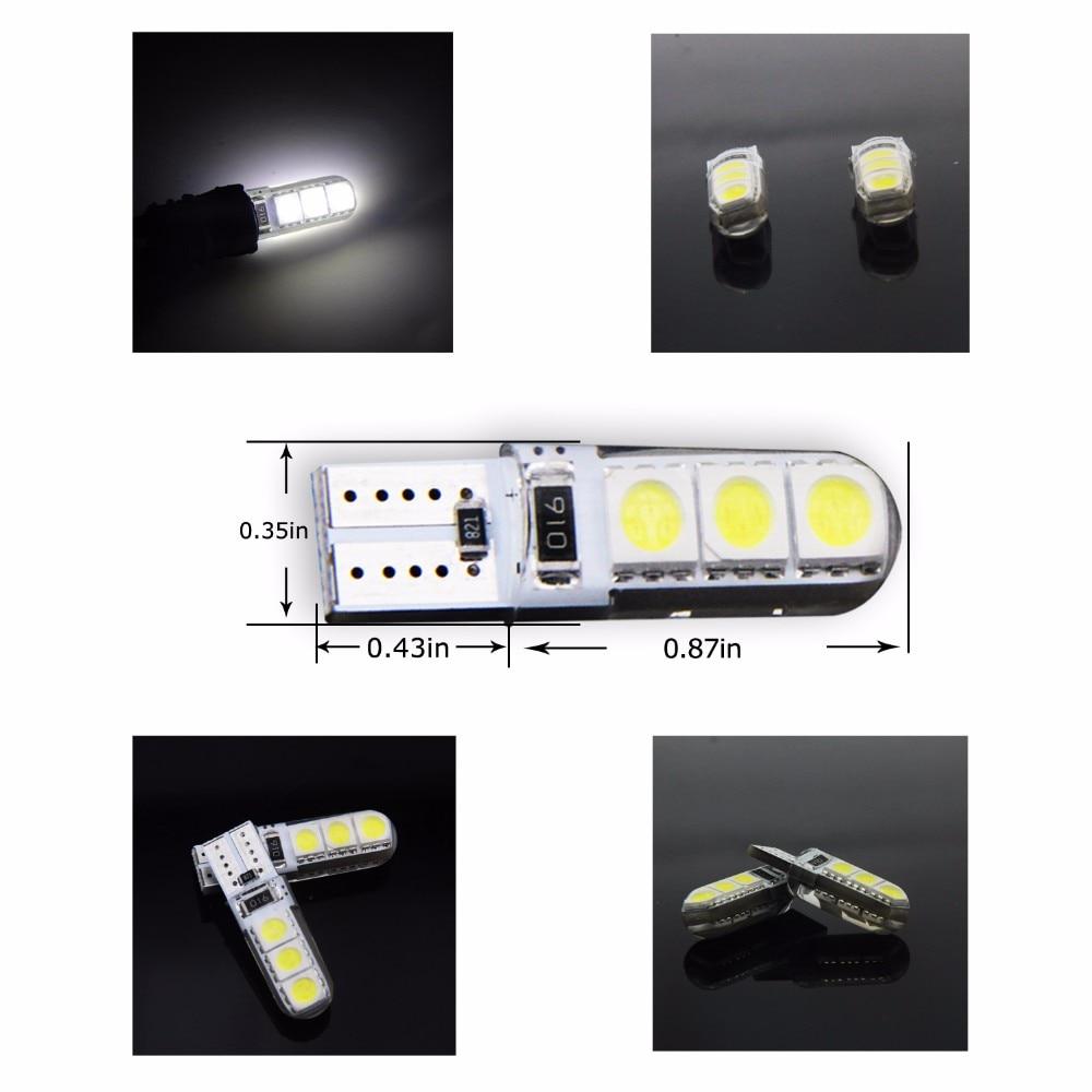 4 Pcs W5W 168 194 SMD T10 LED Luzes Brancas Cunha Lâmpadas Laterais - Faróis do carro - Foto 2