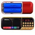 C-25 Puede Utilizar Dos Baterías 18650 Portable Digital Pocket Radio Estéreo altavoz del jugador mp3 fm tf sd micro usb caja de sonido de entrada