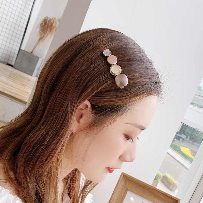 新しいイン甘い女性女の子アクリル幾何学的なグリッターヘアピンヘッドバンドヘアクリップバレッタ髪飾りファッションヘアアクセサリー
