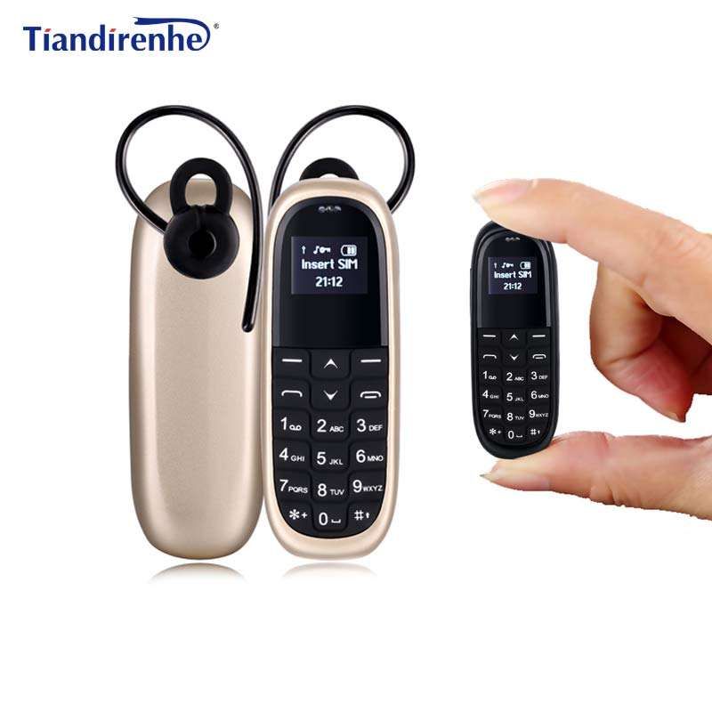 Tiandirenhe KK1 Wireless Bluetooth Headset Dialer 0.66 MINI Earphone Mobile Phone SIM Card Dial Call Headphone pk BM50 BM70
