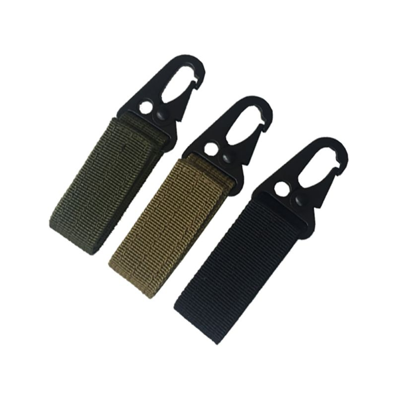 High Strength Nylon Key Hook MOLLE Webbing Buckle Hanging System Belt Camping Hiking Hunting Accessories