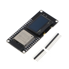 лучшая цена High Quality New 2019 ESP32 OLED Wemos WiFi Module+ Bluetooth Dual ESP-32 ESP-32S ESP8266 OLED For Arduino Hot Sale