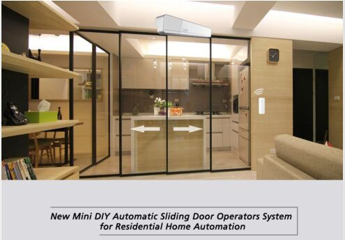 FREE SHIPPING New mini DIY automatic sliding door operator system for residental home automation web page