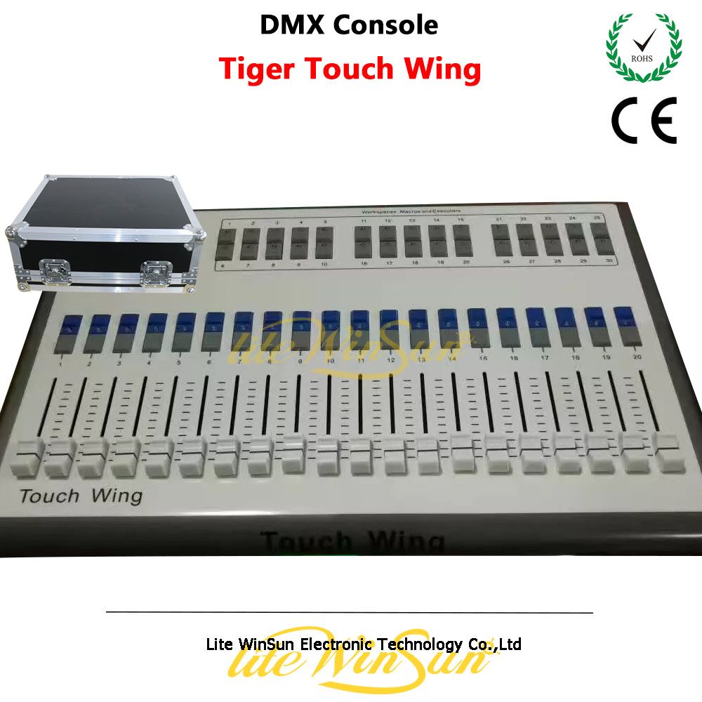 Litewinsune Titan Tiger Touch Wing DMX Console compatible for Titan console with Free Flight Case
