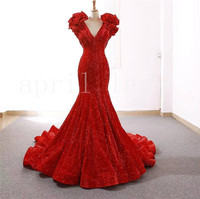 new stock xbb01# 5 yards red pressed pleat embroidery tull mesh african lace for sawing bridal wedding dress