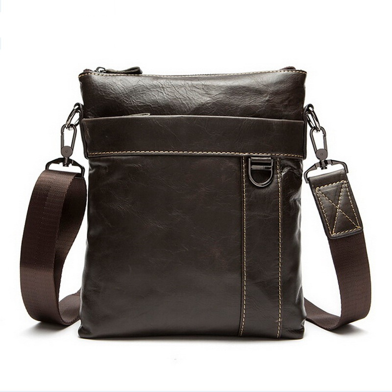 100% Genuine Leather Men Bag fashion mens messenger bag business bag real leather cross body bags for men Handbags 2016 NEW