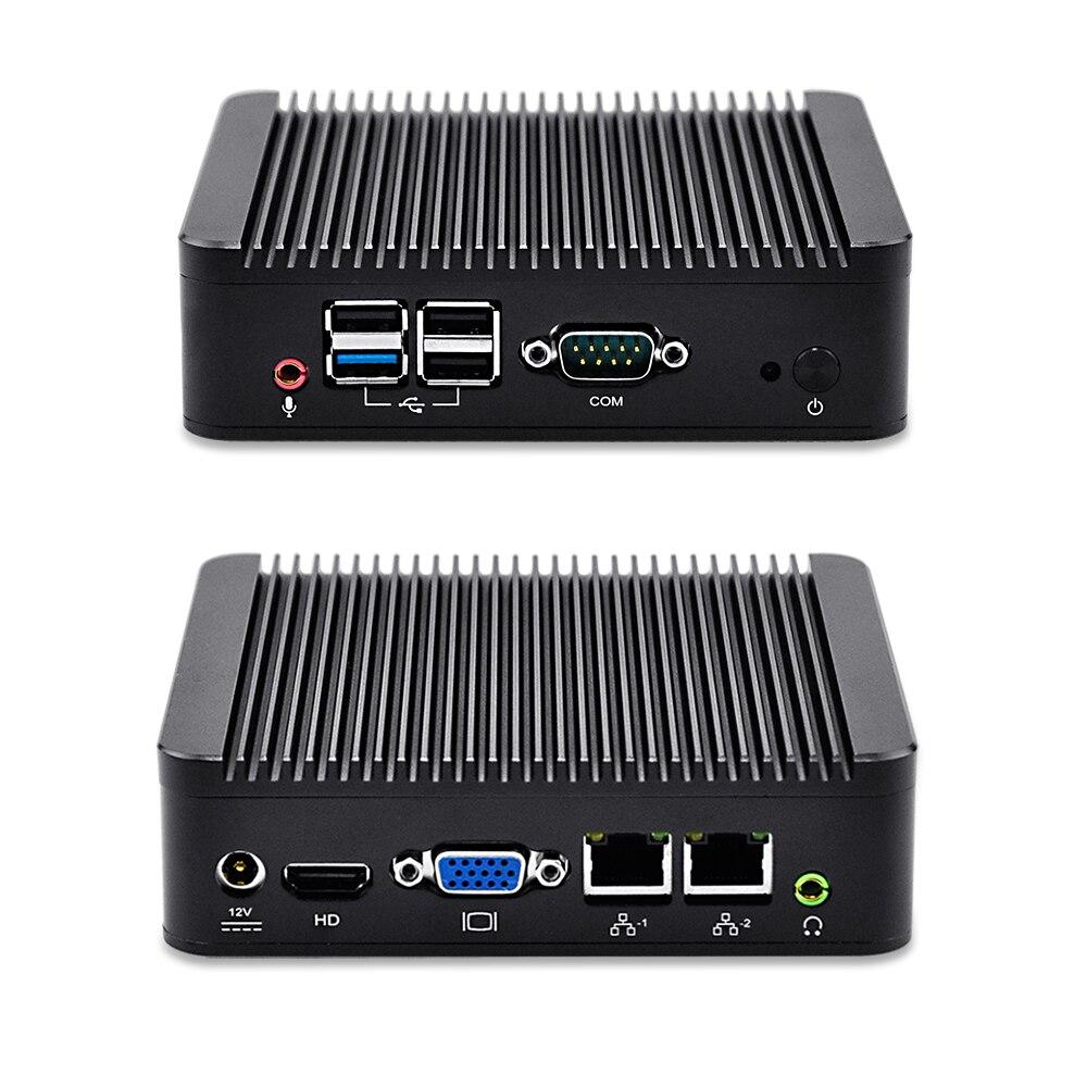 Qotom Dual Lan mini pc Qotom-Q190S  celeron J1900  quad core 4*usb 1* serial port Blu-ray nettop dual lan 4 serial port nano itx board celeron j1900 quad core fanless dc 12v 12 12 cm use for mini pc vending machine