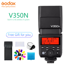 Godox V350 V350N Speedlite flash lithium battery TTL HSS 1/8000s 2.4G Wireless photography for nikon Camera D800 d700 D7100 D700 godox v350n mini flash ttl hss 1 8000s 2 4g x system built in 2000mah li ion battery camera speedlite flash for nikon camera