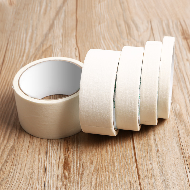 Masking Tape White Color 12/18/24mm Single Side Tape Adhesive Crepe Paper for Oil Painting Sketch Drawing Decoration masking tape crepe paper sticky decorative adhesive tape traceless painting custom made 5 1220mm 20m x 4 rolls 80m
