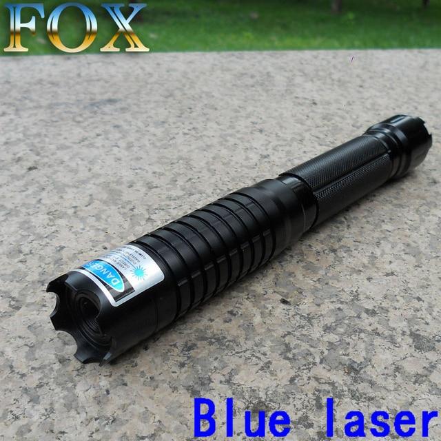 Fox New 1000mw 1watt Blue Laser Pointer Burning Cigarettes 450nm