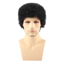 Salonchat Afro Human Hair Wigs 100% Brazilian Human Hair Extension Non-Remy Hair Wig For Women Short Kinky Curly Wig