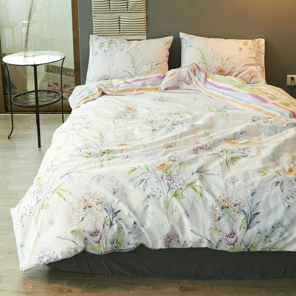 online get cheap nature bedding set twin aliexpresscom  alibaba  - twinfullqueen size cotton colorful bedding set fresh duvet cover briefbed sheet