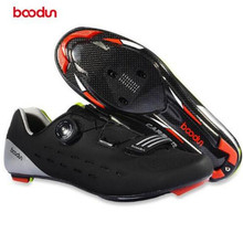 BOODUN Ultralight Carbon Fiber Cycling Shoes Breathable Road Bike Self-Locking Bicycle Athletic Triathlon Racing Sneakers