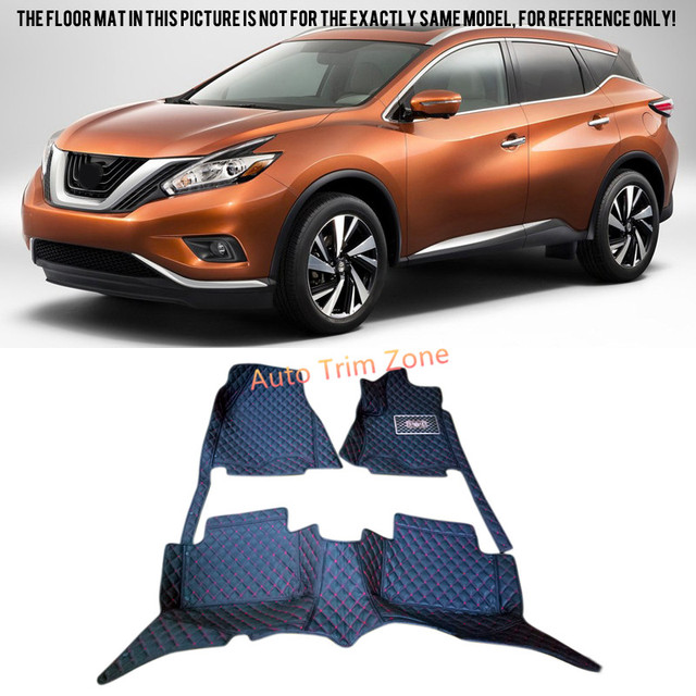 Interior Black Leather Floor Mats U0026 Carpets For Nissan Murano 2015 2016 Z52