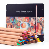 Marco 3100 24 TN 24 Colors Series Professional Oily Colored Pencils Lapices de Colores for Coloured Drawing Pen Set Art Supplies