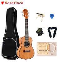 23 Inch 4 Strings Mahogany Ukulele Rosewood Ukulele Sets with Bag Tuner Hawaii Mini Guitar Music Instrument UK2305C