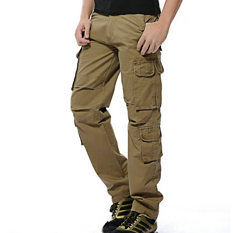 2020 Hot Fashion Men Casual Pants Cotton Multi-Pocket Tactical Cargo Pants For Men