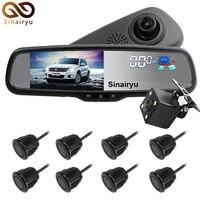 Sinairy Car DVR Detector Camera Review Mirror DVR Digital Video Recorder Auto Camcorder Dash Cam FHD 1080P With 8 Parking Sensor