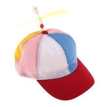 1 unid creativo colorido Patchwork Funny béisbol sombreros niño hélice  libélula de bambú sombrero Casquette Snapback 08775fe8ba9