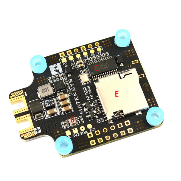 <font><b>Matek</b></font> Systems BetaFlight <font><b>F405</b></font>-<font><b>CTR</b></font> Flight Controller Built-in PDB OSD 5V/2A BEC Current Sensor for RC Drone image