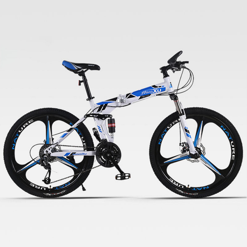 Mountain Bike Folding Three Knife Wheel Double Damping Cross-Country Speed Both Men And Women Adult