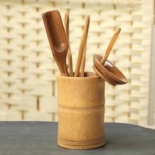6 шт. чайная церемония набор посуды бамбуковые чайные ложки иглы клип ситечко Tong трубка#0622