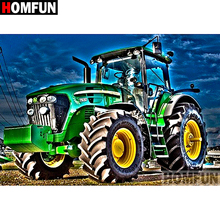 HOMFUN Full Square/Round Drill 5D DIY Diamond Painting Tractor scenery Embroidery Cross Stitch 5D Home Decor Gift A07491 homfun 5d diy diamond painting full square round drill tractor scenery embroidery cross stitch gift home decor gift a09181