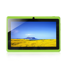 Free Shipping 7 inch Android Tablet Q88 1024 600 A33 Green Quad Core 1 5GHz 512MB