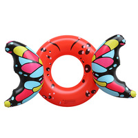 Inflatable butterfly swim ring pool float Stereoscopic butterfly swimming circle pool float Inflatable butterfly float Lifebuoy