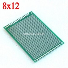 8X12 cm double-Side Copper prototype pcb 8*12 cm Universal Board  Free Shipping Wholesale