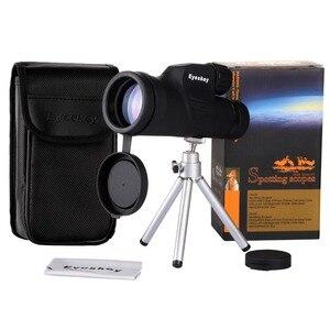 Image 5 - Eyeskey 10x50 wbudowany celownik dalmierz monokularowy teleskop wodoodporny azot Camping polowanie lunety z Bak4 Prism
