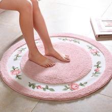 Круглый коврик ковер современной гостиной Спальня коврики нескользящие носки-тапочки для новорожденных ковры коврики моющиеся мягкие Ванная комната ковролин коврик, Текстиль для дома